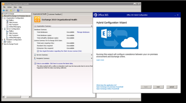 Office 365 Hybrid Configuration Wizard for Exchange 2010